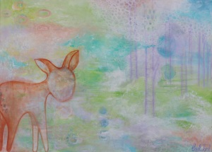 """Innocence 24"""" x 33"""" Acrylic on Canvas $1200"""