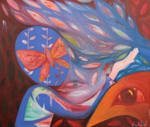 "Transformation 20"" x 24"" Acrylic on Canvas $790"