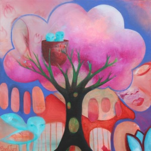 "Memory Tree 18"" x 18"" Acrylic on Canvas $580"