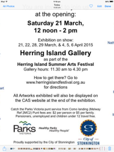 Herring Island A4 Exhibition
