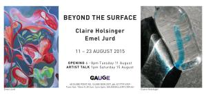 Come along to the opening of 'Beyond The Surface'